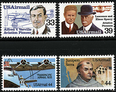 US Scott #C113 C114 C115 & C116  SET of 4 Airmails (1985)  MNH ****FREE SHIP****