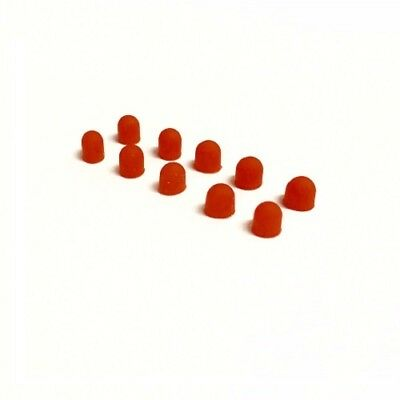 3mm Red Silicon LED Light Bulb Cap Cover (10pcs) by The Toyz 225 Red