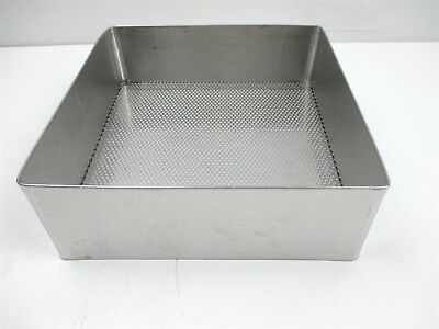 "Weck Pilling Surgical Stainless Steel Tray Perforated Mesh Bottom 10"" x 10 1/2"""