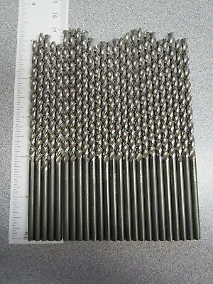"Lot of 24 Black Oxide Twist Drill Bits 9/64"" x Various Lengths"