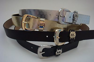 New Michael Kors MK Belt S M L XL Black with Silver * Brown with Gold