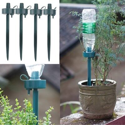 4Pcs Automatic Self-Watering Plant Watering Bottle Water Drip Irrigation Device