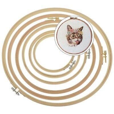 Wooden Frame Hoop Ring Embroidery Cross Stitch Sewing DIY Accessories 13cm-33cm