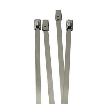 10x Stainlees steel Cable tie 520 x 4,6mm ; metal up to 500°C 46kg strength