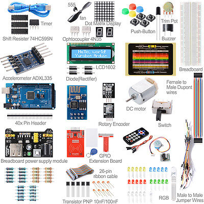 Arduino UNO R3 Mega2560 R3 Learning Kit Starter Beginner Module All in One FR