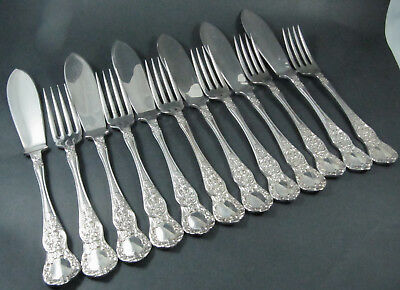 Vintage Australian Silver Plate Rodd Windsor Fish Cutlery for 6 people