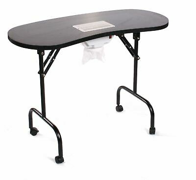 Urbanity portable mobile manicure nail table with extractor fan dust collector s
