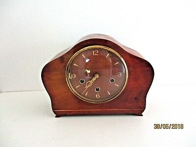 vintage smith chiming mantel clock with key