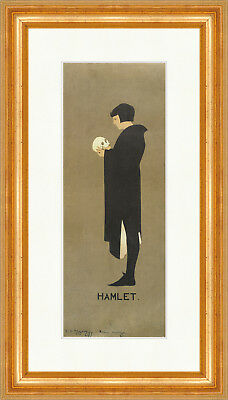 Poster Hamlet James Pryde William Shakespeare Kunstdruck Plakatwelt 845 Gerahmt
