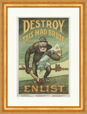 Enlistening in the United States Army Poster Gorilla Kunstdruck Plakatwelt 754