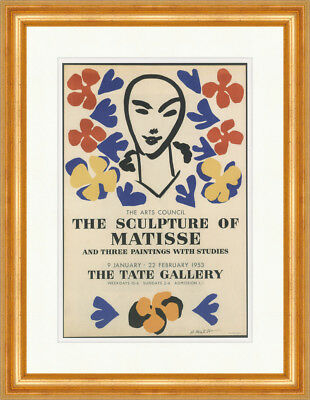 The Sculpture of Matisse Poster Ausstellung 1952 Kunstdruck Plakatwelt 737