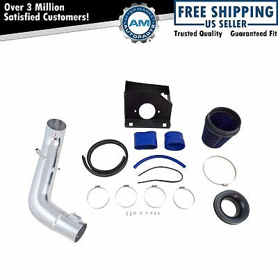 Performance Cold Air Intake System CAI Blue Filter for F150 Pickup Truck 5.0L