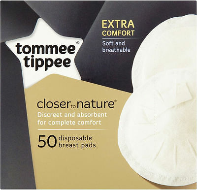 100 Tommee Tippee Closer to Nature Disposable Breast Pads - *2 boxes of 50* NEW!
