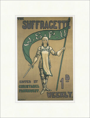 The Suffragette Hilda Dallas 1912 Pankhurst Justice Kunstdruck Plakatwelt 875