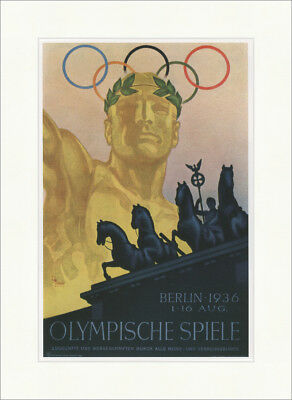 Olympic Games Berlin Poster Franz Th. Würbel 1936 Kunstdruck Plakatwelt 819