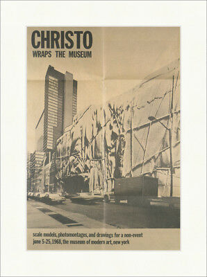 Christo wraps the museum 1968 New York Modern Art Kunstdruck Plakatwelt 730