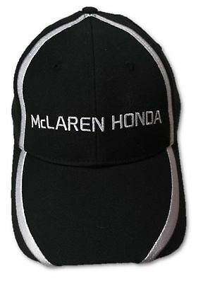 CAP Hat Formula One 1 McLaren Honda F1 Team NEW! J.Button & F.Alonso Black