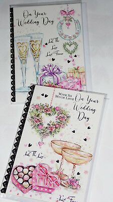 WEDDING DAY CARDS x 12, JUST 27p, WRAPPED,FOILED (G303