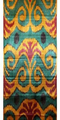 Uzbek Handmade Handcrafted Woven Silk-Cotton Ikat Adras Fabric By Yardage A10660