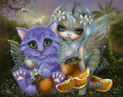 Call of the Night Jasmine Becket-Griffith CANVAS PRINT wolf cat vampire goth art