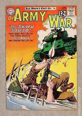 Our Army at War #117 1962 GD+ 2.5