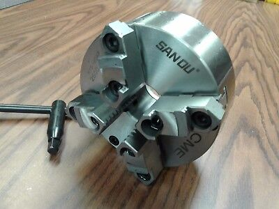 """6"""" 4-JAW SELF-CENTERING LATHE CHUCK front mounting for rotary table #0604F0-SFM"""