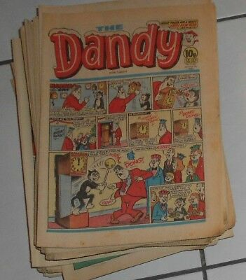 Approx 65 Dandy Comics , 1980S,   Some  Incorporating  Hoot & Nutty