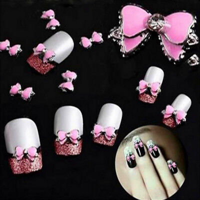 New Chic 10 Pcs 3D Nail Art Sticker Glitter Decoration Alloy Rhinestone Shiny JW