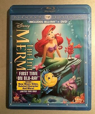 Disney's LITTLE MERMAID Diamond Edition Blu-ray/DVD combo - BRAND NEW!