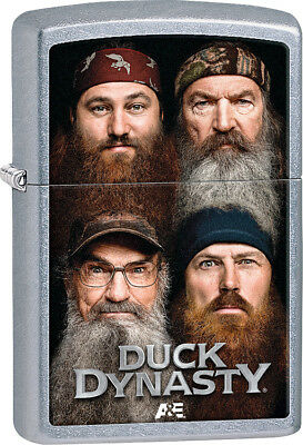 Zippo 28881 Duck Dynasty Robertson Family Overlay on Street Chrome Lighter