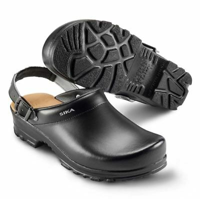 Sika Safety Shoe 8185 Flex Lbs Open Clog with Heel Strap Black Sz. 42