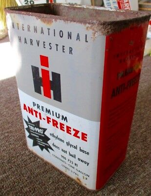 Very Rare INTERNATIONAL HARVESTER ANTI-FREEZE Gallon CAN....L@@K!