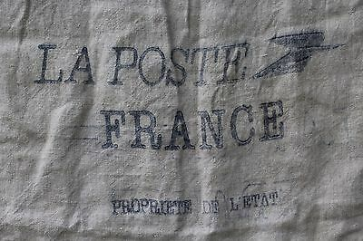 A Vintage French Canvas La Poste Sack Industrial Upholstery Fabric Project Ref A