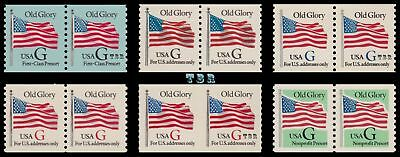 2888-93 2889 2890 2891 2892 2893 G Rate Old Glory Flag Pairs Set 6 MNH - Buy Now