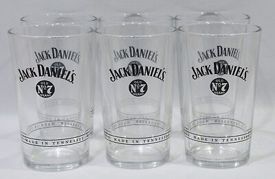 JACK DANIEL'S WHISKEY 6 verres collector 2018 Décor N°3