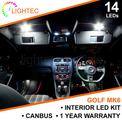 Vw Golf Mk6 Interior Lighting Upgrade Kit Xenon White Led Bulb Set Puddle Mirror