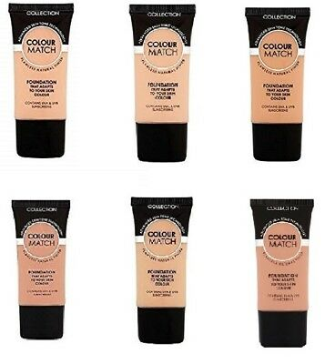 NEW - COLLECTION Colour Match Foundation Tube 30ml SEALED - 6 colours available