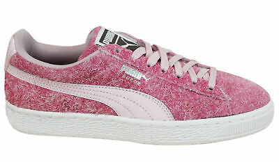 63ab690b5eae Puma Suede Elemental Womens Trainers Lace Up Shoes Pink Leather 361112 02 P3