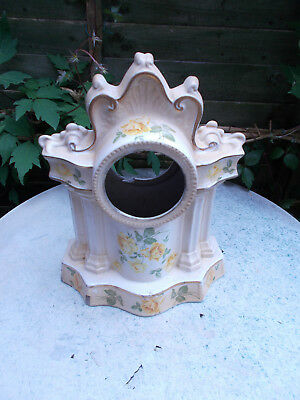 Antique French China Pottery Clock Case For Restoration