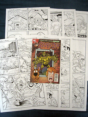 SCOOBY-DOO Original Rough Comic Art! 8-Page COMPLETE Story! SCOOBY-DOO #151!