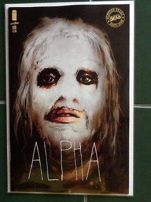 """The Walking Dead Issue #180 Variant Cover """"Alpha"""" Image Comics Sienkiewicz"""