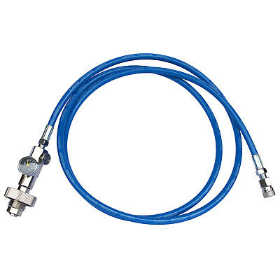 """HPA Tank Air Scuba DIN Fill Station Adapter with 72"""" Blue High Pressure whip"""