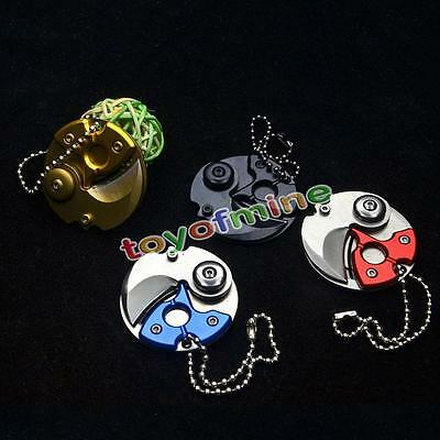 Coin EDC Keyring Keychain Necklace Karambit Stainless steel Neck claw knife GA