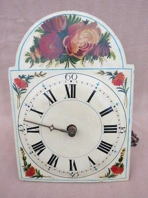 Antique Black Forest Shield Dial Wall Clock For Restoration