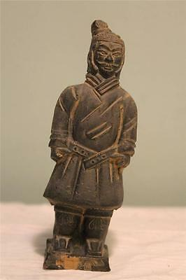 """Chinese Terra Cotta Clay Soldier Figurine Qin Dynasty Army Xian 5"""" Replica C"""
