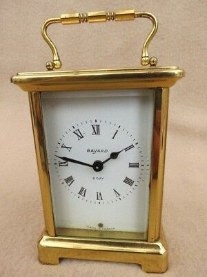 Vintage French Brass 8 Day Bayard Carriage Clock For Spares Or Repair