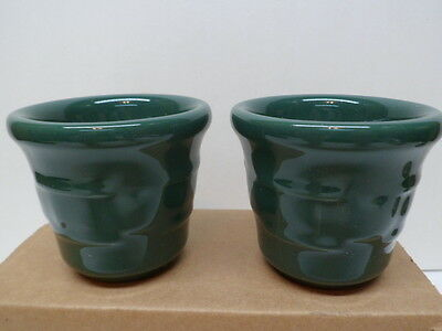 MIB Longaberger Set of Ivy Green Votive Candle Holders