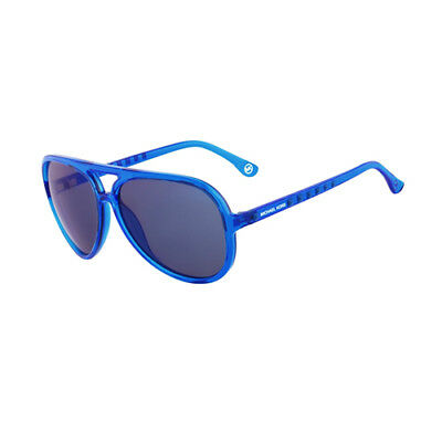 435a082f9f MICHAEL KORS BRYNN Womens Blue Mirrored MK Aviator Sunglasses M2938S ...