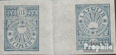 Latvia 24BK (complete issue) without gumming as expended unused 1919 Postage sta