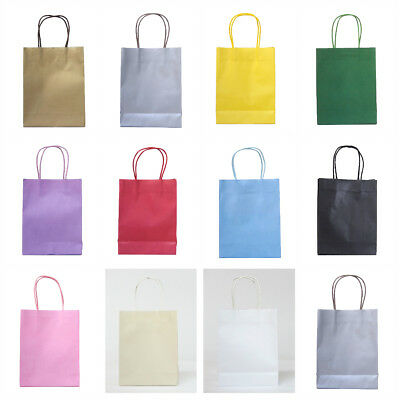 15 x Party paper bags with handle - PAPER PARTY LOOT TREAT GIFT GOODY BAGS